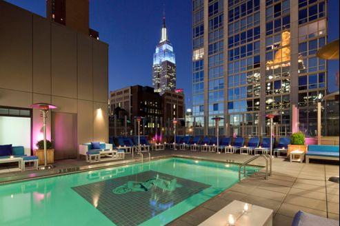 La piscine du Gansevoort à New York. (Gansevoort)