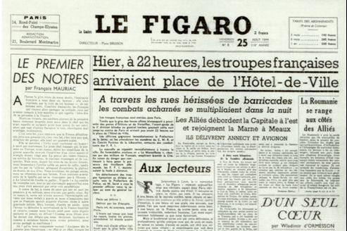 Toutes lesgrandes signatures figurent dans les premiers numéros du Figaro.