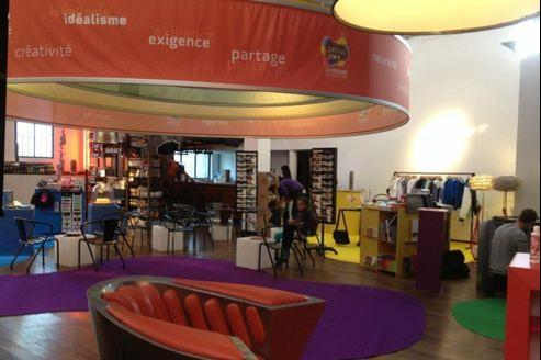 Le pop-up store «Auvergne Nouveau Monde» à la Bellevilloise (XXe).