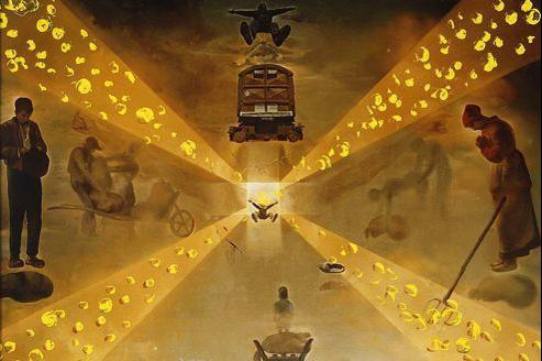 L'au-delà vu par Salvador Dali. En 1964, l'artiste écrit «j'ai eu à la gare de Perpignan une extase cosmogonique. J'ai eu une vision exacte de la constitution de l'univers.»