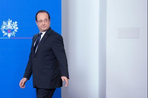 François Hollande, avant sa conférence de presse donnée dans la nuit.