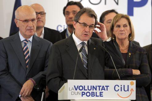 Artur Mas, président sortant du gouvernement catalan, dimanche.