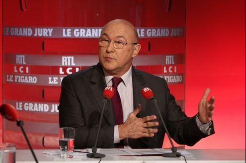 Le ministre du Travail, Michel Sapin, dimanche au «Grand Jury RTL-Le Figaro-LCI».