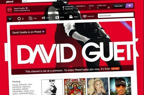 Le «pheed» de David Guetta, à 5 dollars par mois.