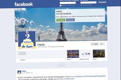 Capture d'écran de la page Facebook de la Ville de Paris.