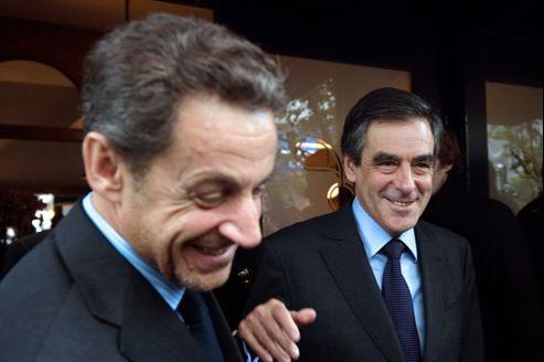 Nicolas Sarkozy et François Fillon (ici à Paris, en octobre dernier) ont déjeuné ensemble lundi.