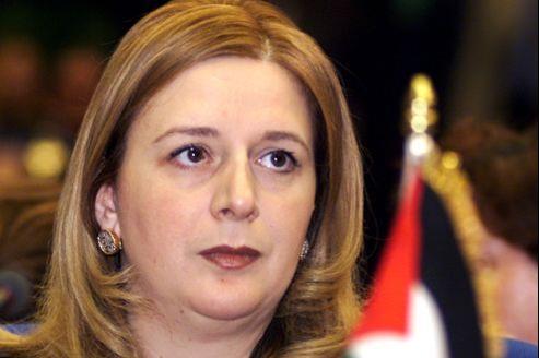 Souha Arafat en 2000, durant le sommet des femmes arabes au Caire . (Image d'illustration)