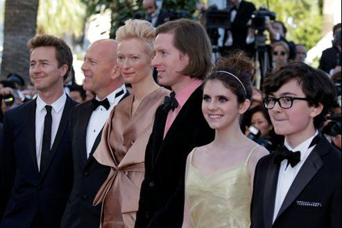 L'équipe du film Moonrise Kingdom à l'ouverture du festival de Cannes en mai 2012.