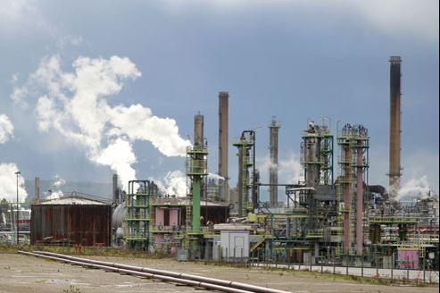 La raffinerie Petroplus à Petit-Couronne, en Seine-Maritime.