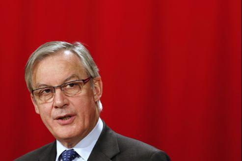 Christian Noyer, gouverneur de la Banque de France, lundi à Paris.