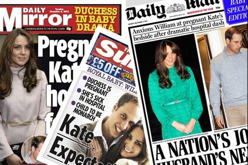 Unes de tabloïds britanniques à l'annonce de la grossesse de la duchesse de Cambridge.