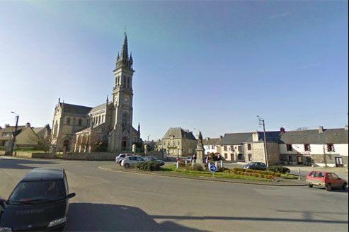 L'église d'Eréac (Côtes-d'Armor).