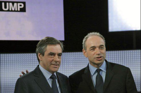 Francois Fillon et Jean-François Copé, sur le plateau de Des paroles et des actes.