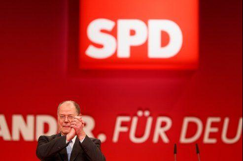 Peer Steinbrück, ce dimanche à Hanovre.
