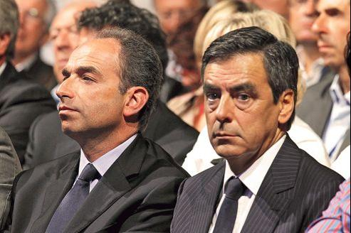 Jean-François Copé et François Fillon, lors de l'université d'été de l'UMP, à Marseille en 2011.