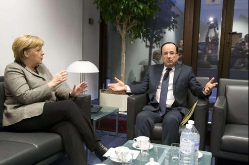 Angela Merkel et François Hollande, ce jeudi à Bruxelles.