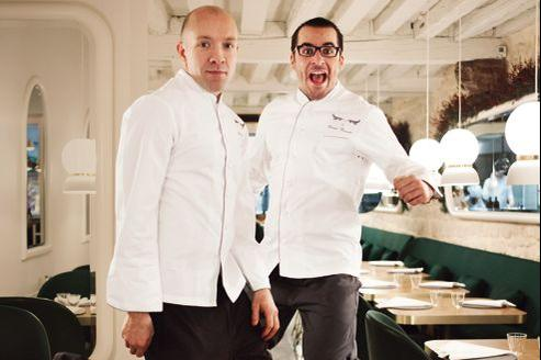 Le chef Antonin Bonnet et son second, Daniel Baratier, du restaurant le Sergent Recruteur (IVe).