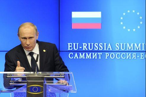 Vladimir Poutine, au 30e sommet russo-européen, le 21 décembre, à Bruxelles.