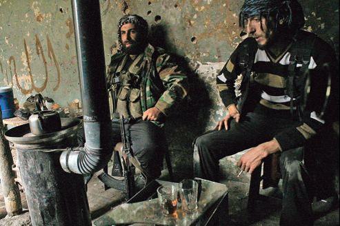 Combattants rebelles à Alep, le 19 décembre 202.