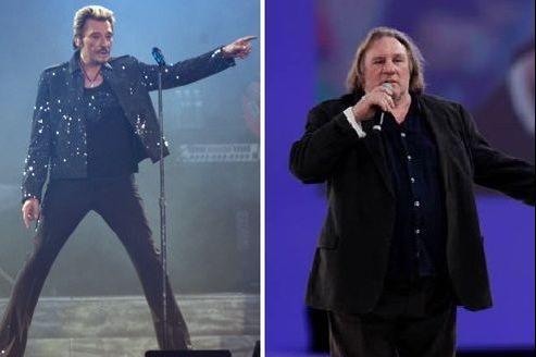 Johnny a choisi l'humour pour soutenir Gérard Depardieu. (Crédits photo: Reuters / François Bouchon pour Le Figaro).