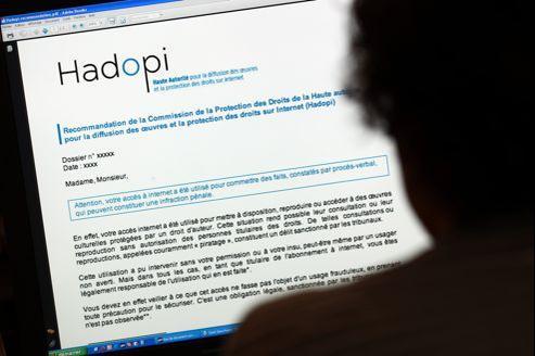 Plus d'un million d'e-mails d'avertissement ont été envoyés aux internautes depuis 2010.