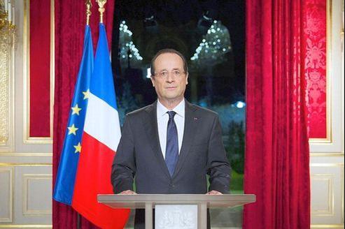 François Hollande, lundi soir, depuis l'Elysée.