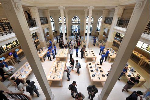 L'Apple Store de Paris Opéra, le 1er juillet 2010.