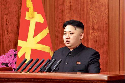 Kim Jong-un à Pyongyang, mardi, lors d'une cérémonie de vœux.