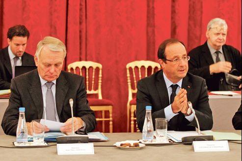 François Hollande et Jean-Marc Ayrault lors d'une réunion à l'Élysée, fin octobre.
