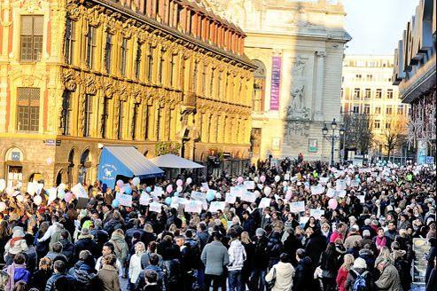 Manifestation contre le mariage gay dans les rues de Lille, le 8 décembre dernier.