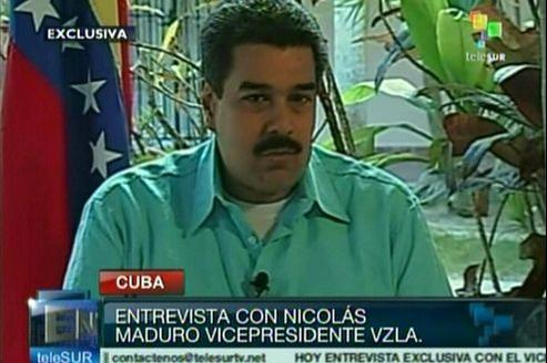 Nicolas Maduro, le successeur désigné d'Hugo Chavez, est intervenu sur la chaîne de télévision Telesur pour une brève allocution sur la santé du président vénézuélien.