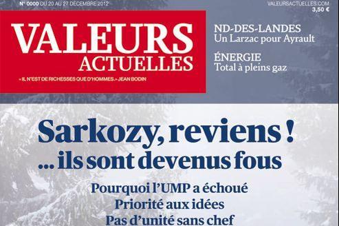 Le numéro de décembre de Valeurs actuelles, avec son nouveau logo.
