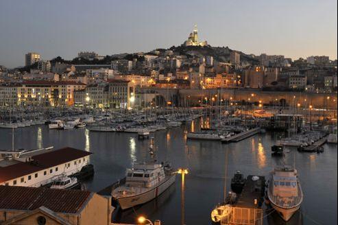 Le Vieux-Port de Marseille.