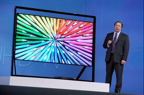 Le nouveau téléviseur ultra HD de 85 pouces de Samsung.