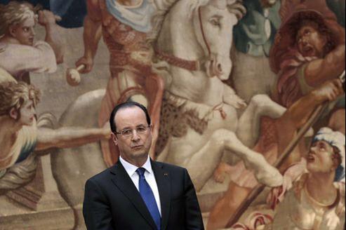 François Hollande, lors de ses vœux aux Corps constitués, le 8 janvier.