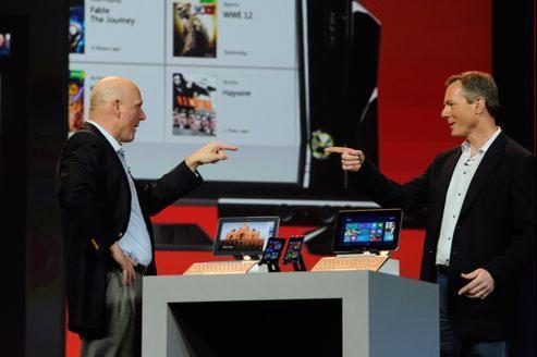 Steve Ballmer, PDG de Microsoft, était l'invité de la conférence inaugurale de Qualcomm.