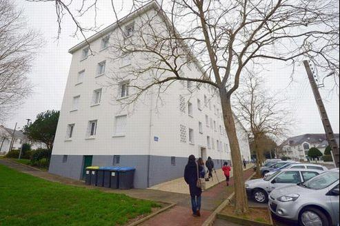 L'immeuble de Saint-Nazaire où la famille a été découverte.