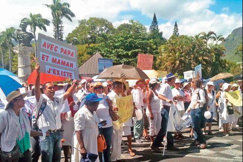 Manifestation à Saint-Denis de la Réunion, le 9 décembre.