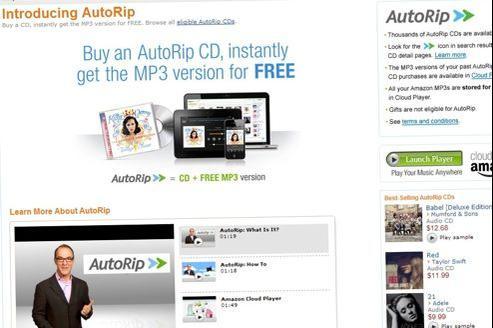 Les chansons achetées sont automatiquement transférées dans le cloud d'Amazon.