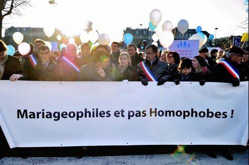 Manifestation contre le mariage pour tous, le 8 décembre à Lille.