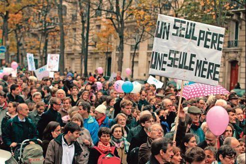 Manifestation des opposants au mariage gay, le 17 novembre dernier, à Paris.