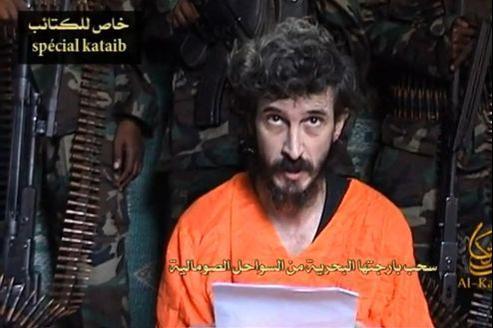 Denis Allex sur une vidéo mise en ligne par un website islamiste le 9 juin 2010.