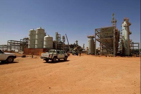 Le site gazier exploité par l'entreprise nationale Sonatrach avec la compagnie britannique BP et la norvégienne Statoil dans le champ d'In Amenas, au sud de l'Algérie, où a eu lieu l'attaque du commando islamiste mercredi.