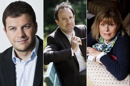 Guillaume Musso, Marc Levy et Katherine Pancol. (Crédits: Emanuele Scorcelletti ; Le Figaro)