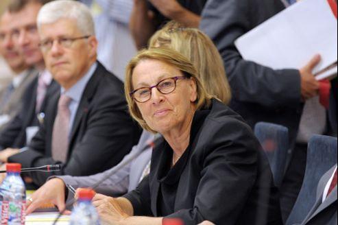 Marylise Lebranchu, ministre de la Fonction publique, lors d'une réunion avec les partenaires sociaux, en septembre 2012.