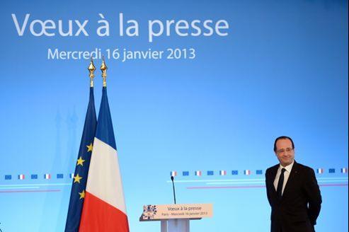 François Hollande présentait ses vœux à la presse ce mercredi.