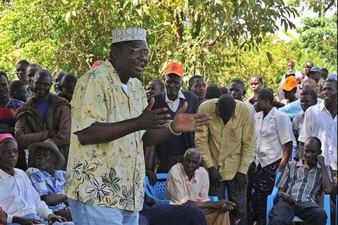 Malik Obama en plein meeting électoral.