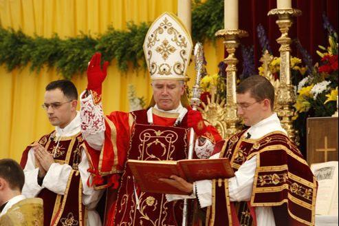 MgrBernard Fellay, supérieur général de la Fraternité Saint Pie X, en décembre 2011, à Écone en Suisse.