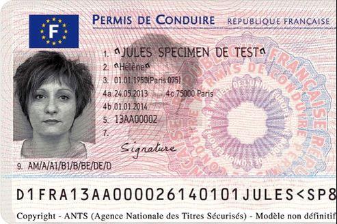Exemple du nouveau permis de conduire européen.