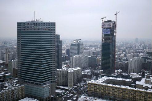 Une vue du centre de Varsovie. La Pologne n'affichera que 1,5% de croissance en 2013, selon les experts de la Berd.